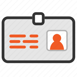 business, card, contact, id, identification, info, profile icon icon