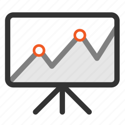 business icon, finance, flipchart, graph, growth, office, presentation icon