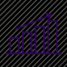 business, development, gain, graph, profit icon
