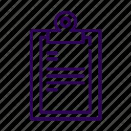 business, checklist, document icon
