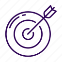 arrow, target