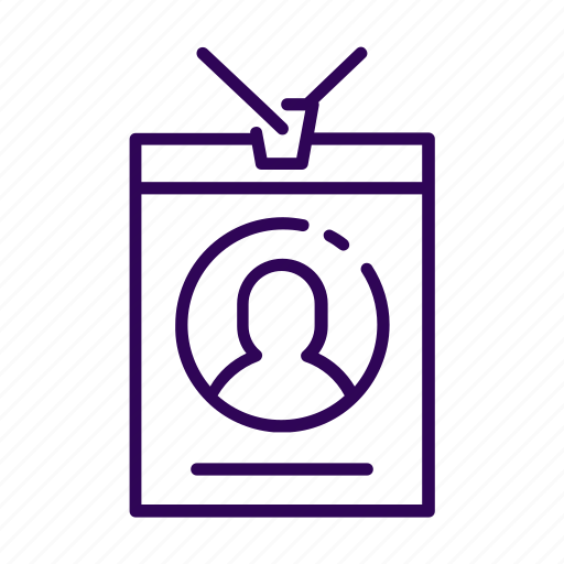 business, id card icon