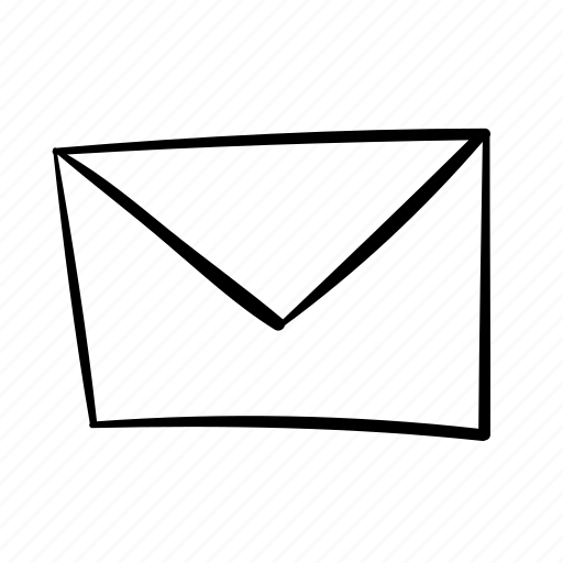 address, contact, email, envelope, handdrawn, letter, mail, recieve, send icon