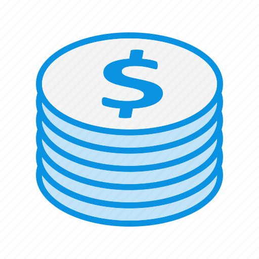 currency, money, stack icon