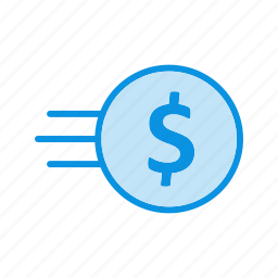 coin, currency, fast icon