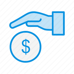 estate, giving, money icon