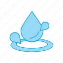 drop, water, wet icon
