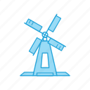 holland, mill, wind, windmill icon