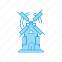 mill, windmill icon