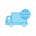 delivery, truck, world