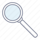 find, found, glass, magnifier icon