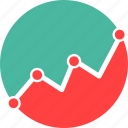 business, chart, graph, grow, success icon