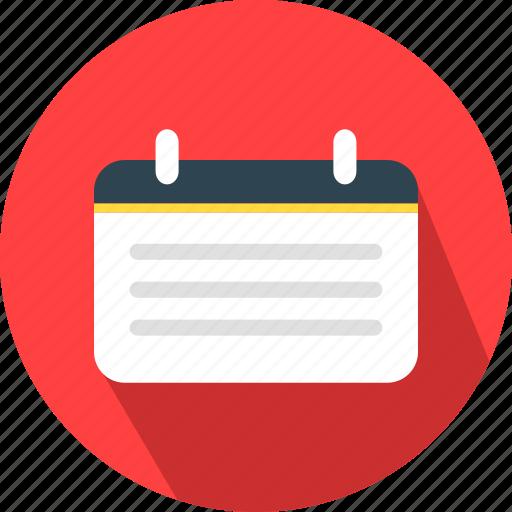 agenda, calendar, date, schedule icon