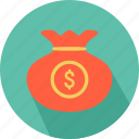 bag, coins, dollar, money, money icon icon