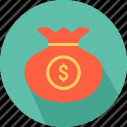 bag, coins, dollar, money, money icon icon