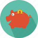 cash, money, pig, saving icon