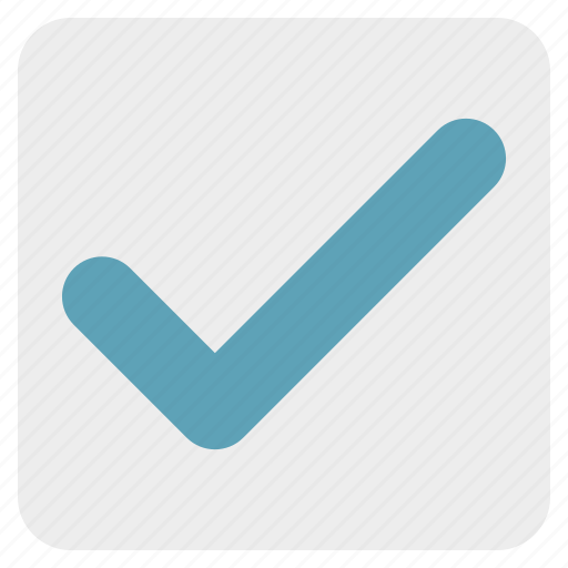 accept, approved, box, check, checkbox, success, tick icon