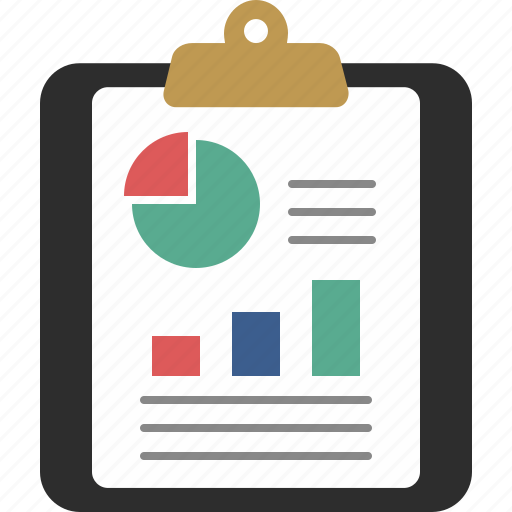 charts, clipboard, document, page, paper icon