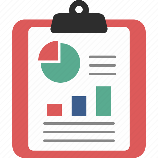 analytics, business, chart, charts, clipboard, graph, report icon