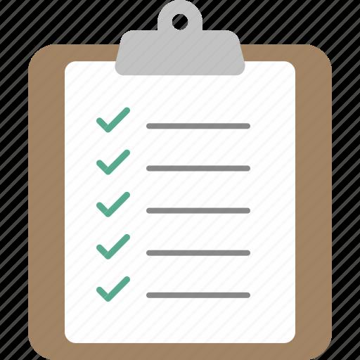 checklist, clipboard, document, list, paper, report, to do list icon