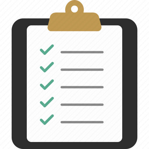 checklist clipboard document page paper icon