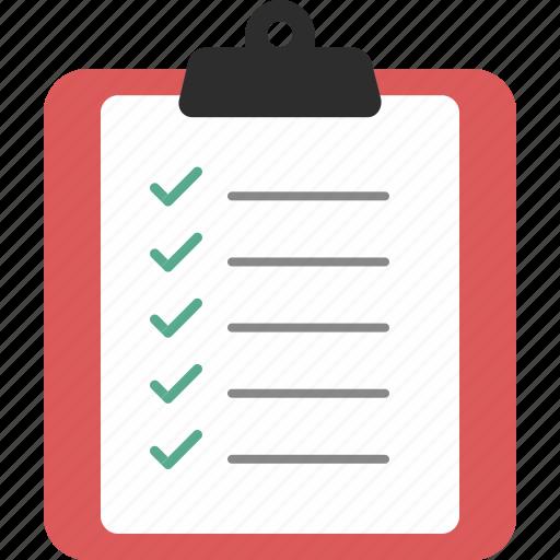 checklist, clipboard, document, report icon