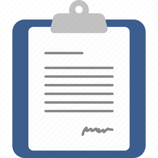 clipboard, document, page, paper, signature icon