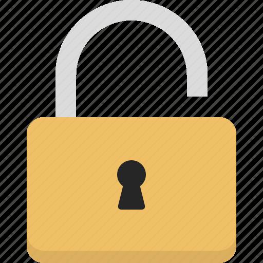 access, lock, padlock, unlock, unlocked icon