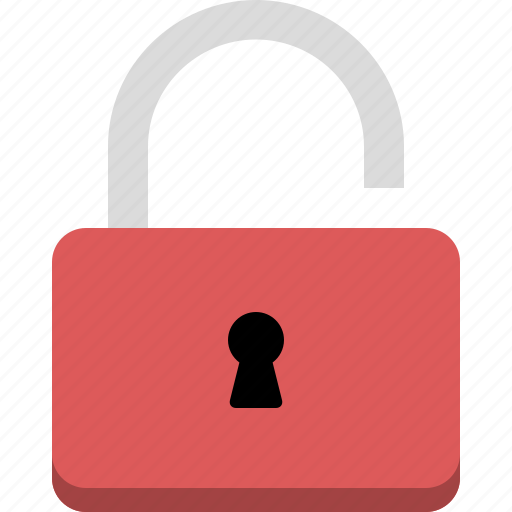 lock, privacy, secure, unlock, unlocked icon