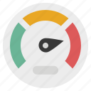 dashboard, gauge, indicator, measure, meter, performance, speedometer icon