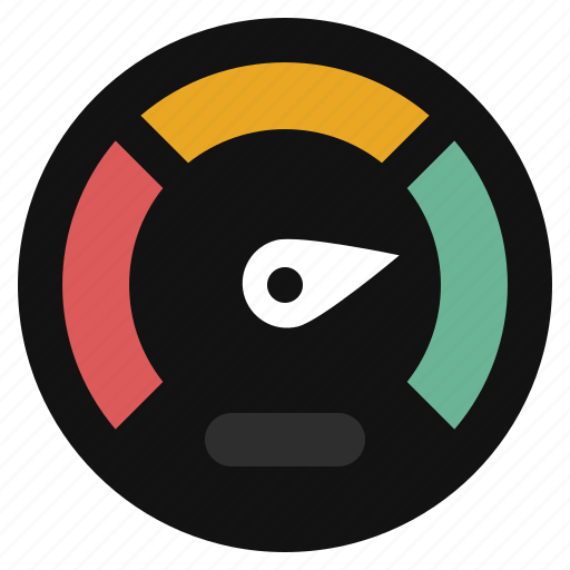 dashboard, gauge, measure, measurement, meter, performance, speedometer icon