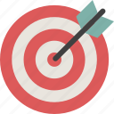 achievement, aim, bullseye, dartboard, focus, goal, target icon