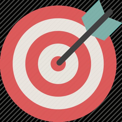 achievement, aim, bullseye, dartboard, focus, goal, target icon