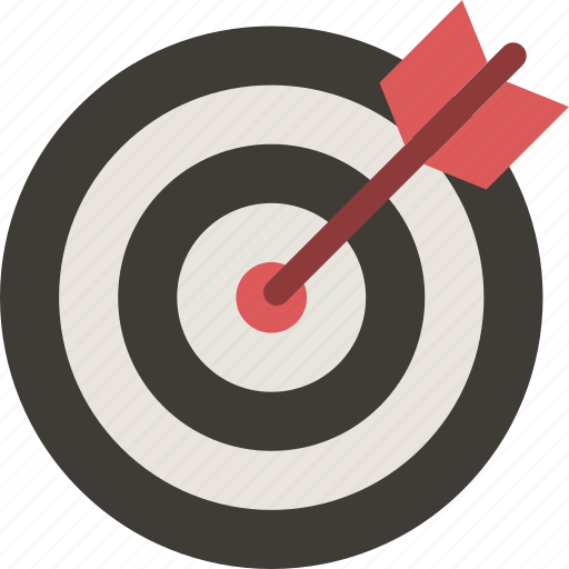 aim, archery, arrow, bullseye, dart, dartboard, target icon