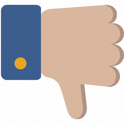 dislike, down, hand, thumbs icon