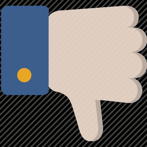 dislike, down, hand, negative, thumbs icon