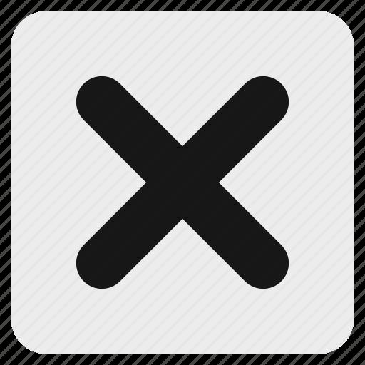 cancel, close, cross, exit, stop, x icon