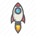 business, idea, marketing, rocket, space, start, up icon