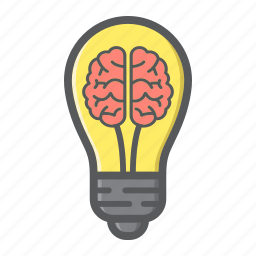 brain, bulb, business, creative, idea, lamp, light icon