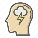 brain, creative, idea, innovation, mind, storm, think icon