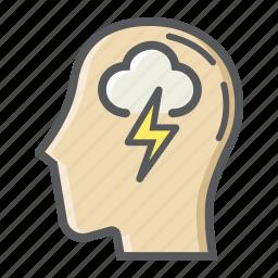 brain, creative, idea, innovation, mind, storm, think icon