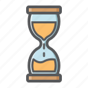 business, clock, deadline, glass, hourglass, sand, time icon
