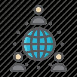 business, communication, global, international, network, partnership, world icon