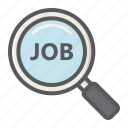 business, career, employment, job, magnifying, search icon