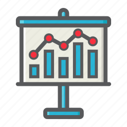 board, business, chart, finance, graph, growing, growth icon