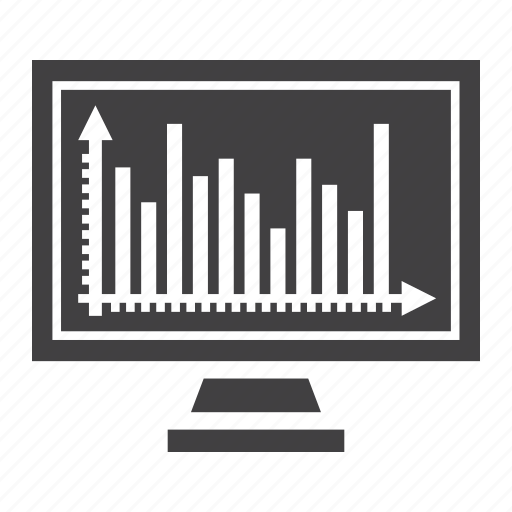 business, chart, finance, graph, growing, monitor, screen icon