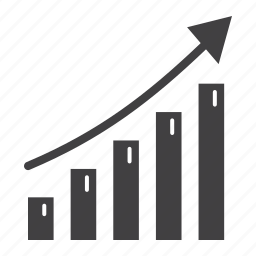 analysis, arrow, business, financial, growth, infographic, sale icon