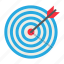 business, dartboard, game, hit, marketing, success, target icon