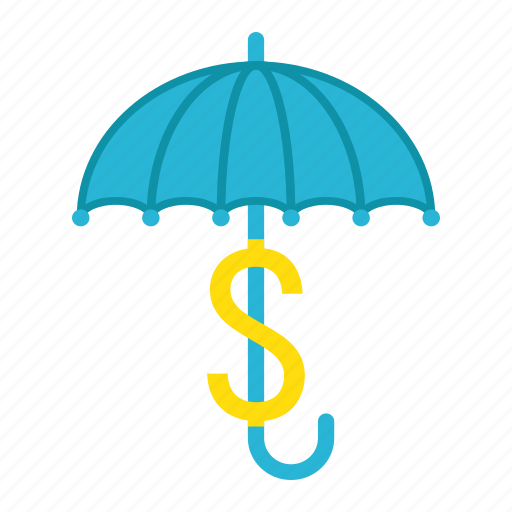 business, dollar, insurance, protection, safe, sign, umbrella icon