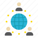business, communication, global, international, network, partnership, world icon